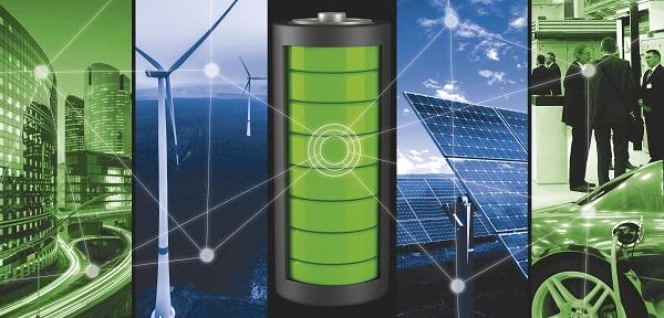 Eines der Leitmotive der Intersolar 2017 zeigt, dass auf der internationalen Messe für Solarenergie Stromspeicher ein großes Thema waren. Foto Solar Promotion GmbH