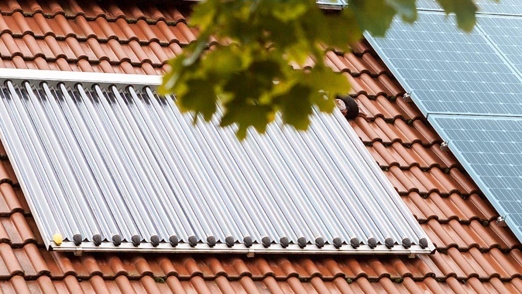 Energieeffiziente Solarthermieanlage